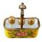 Limoges Imports Yellow Basket W/3 Bottles Limoges Box