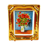 Limoges Imports Van Gogh Poppies Limoges Box