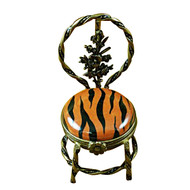 Limoges Imports Tiger Striped Chair Limoges Box