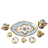 Limoges Imports Pale Blue 8 Piece Tea Set Limoges Box