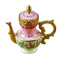 Limoges Imports Pink Tea Pot Limoges Box
