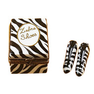 Limoges Imports Zebra Shoe Box W/ Shoes Limoges Box