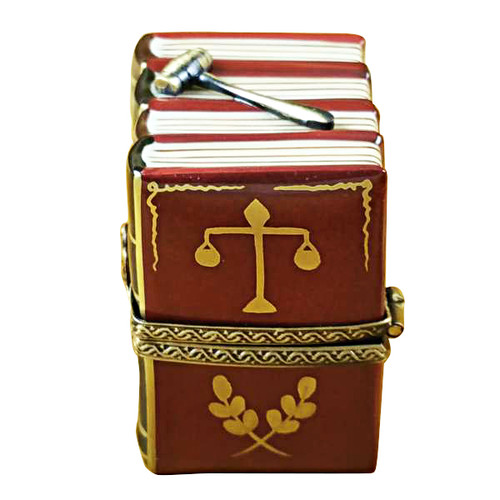 Limoges Imports Law Books W/ Gavel Limoges Box