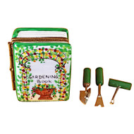 Limoges Imports Book Of Gardening W/Tools Limoges Box