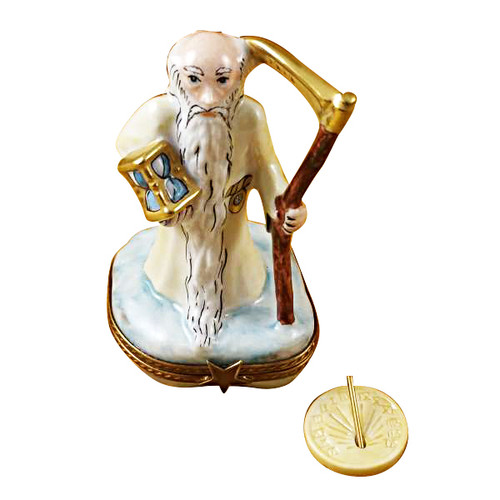 Limoges Imports Father Time Limoges Box