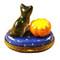 Limoges Imports Cat & Pumpkin Limoges Box