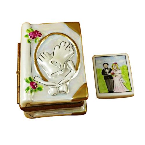 Limoges Imports Wedding Book W/Couple Limoges Box