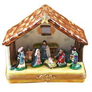 Limoges Imports Large Nativity Limoges Box