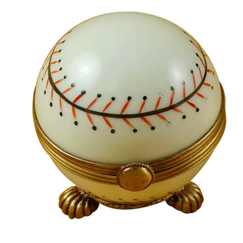 Limoges Imports Baseball On Stand Limoges Box