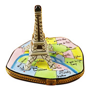 Limoges Imports Eiffel Tower On Map Limoges Box