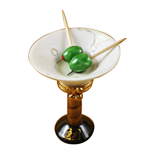Limoges Imports Martini Glass With Olives Limoges Box