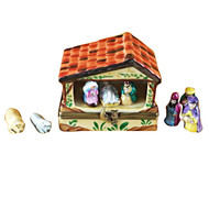 Limoges Imports Manger W/8 Removable Pieces Limoges Box