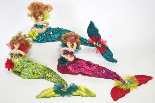 Katherine's Collection Mermaid Bean Bag Dolls Set of 3