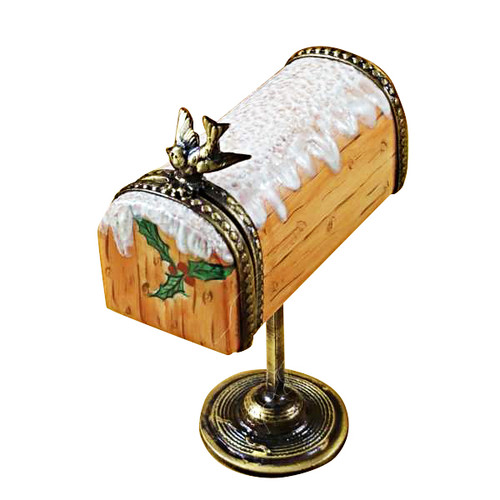 Limoges Imports Brown Mail Box Limoges Box