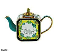 EN452 Kelvin Chen Mouse and Leaves Enamel Teapot