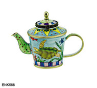 ENK588 Kelvin Chen Sea Turtles Enamel Hinged Teapot
