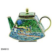 ENK613 Kelvin Chen Vincent Van Gogh Back of the Oise Enamel Hinged Teapot