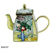 ENK737 Kelvin Chen Cezanne The Blue Vase Musee D'Orsay, Paris Enamel Hinged Teapot