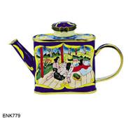 ENK779 Kelvin Chen Gauguin Resting Enamel Hinged Teapot