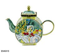 ENK815 Kelvin Chen Paul Cezanne Pitcher and Fruits Enamel Hinged Teapot