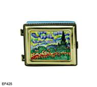 EF425 Kelvin Chen Vincent Van Gogh Wheat Field Master Painting Enamel Hinged Box