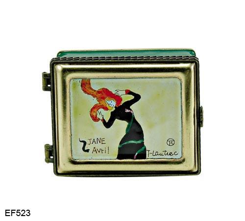 EF523 Kelvin Chen Henri de Toulouse-Lautrec Jane Avril Master Painting Enamel Hinged Box