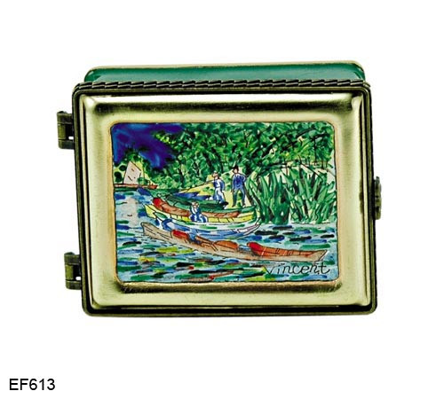 EF613 Kelvin Chen Vincent Van Gogh Back of the Oise Master Painting Enamel Hinged Box