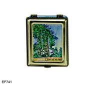 EF741 Kelvin Chen Monet Monet Poplars Master Painting Enamel Hinged Box