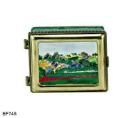 EF745 Kelvin Chen Gauguin Landscape at Le Poulder Master Painting Enamel Hinged Box
