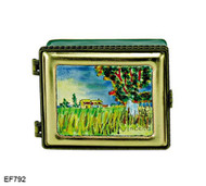 EF792 Kelvin Chen Vincent Van Gogh House In Field Master Painting Enamel Hinged Box