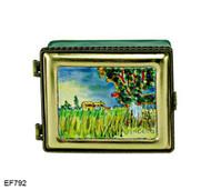 EF792 Kelvin Chen Vincent Van Gogh House In Field Master Painting Enamel Hinged Box