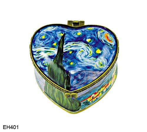 EH401 Kelvin Chen Vincent Van Gogh Starry Night  Enamel Hinged Box