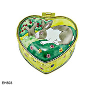 EH503 Kelvin Chen Rabbit Enamel Hinged Box
