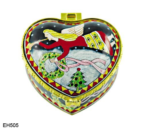 EH505 Kelvin Chen Angel Enamel Hinged Box
