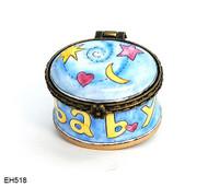 EH518 Kelvin Chen Baby Star, Moon, Heart Miniature Enamel Hinged Box