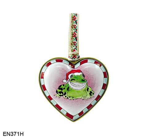 EN371H Kelvin Chen Frog Heart Enamel Ornament