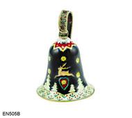 EN505B Kelvin Chen Reindeer Bell Enamel Ornament