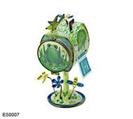 ES0007 Kelvin Chen Frog Lilypad Mailbox Hinged Stamp Box