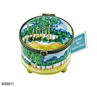 ES0011 Kelvin Chen Monet Poplars Stamp Box