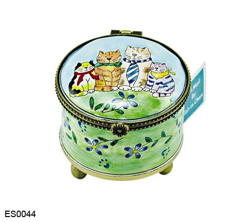 ES0044 Kelvin Chen Cat Family Stamp Box