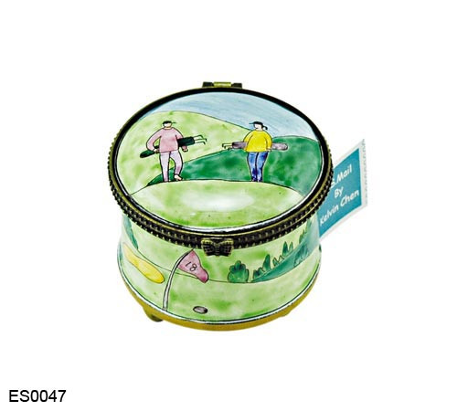 ES0047 Kelvin Chen Golfers  Walking Stamp Box