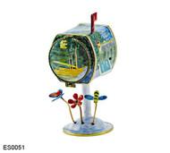 ES0051 Kelvin Chen Monet River  Birdhouse Hinged Stamp Box