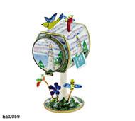 ES0059 Kelvin Chen Lighthouse Mailbox Hinged Stamp Box