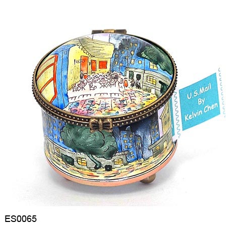 ES0065 Kelvin Chen Vincent Van Gogh Night Café Stamp Box
