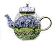 ENK862 Kelvin Chen Field of Flowers Enamel Hinged Teapot