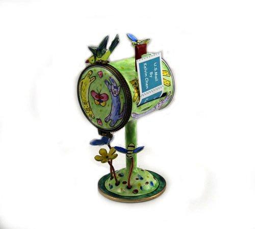 ES0073 Kelvin Chen Circling Cats Mailbox Hinged Stamp Box
