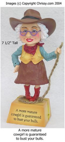 Westland Cowgirl Bobble Figurine Biddy
