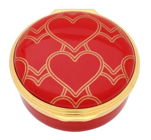 Halcyon Days Heart Trellis Enamel Box ENHTR0601G