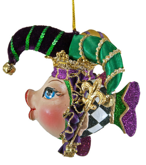 Katherine's Collection Jester Kissing Fish