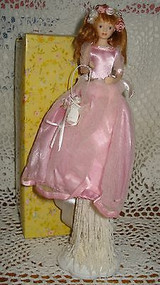 Flower Girl in Pink Tassel Doll